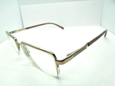 Versace Womens Eyeglasses MOD.1066 1053 Silver Brown 50-18-135 Rx Glasses Frames