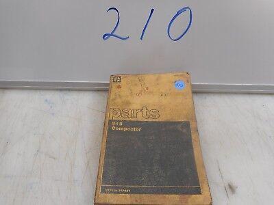 Caterpillar 815 Compactor Parts Book