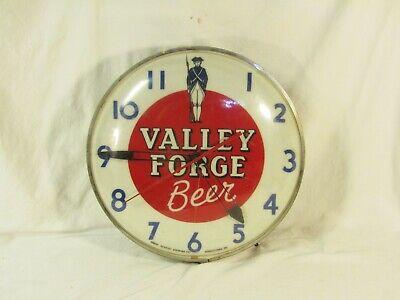 Vintage Valley Forge Beer Advertising Light Up Clock Sign