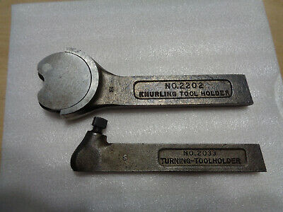 2 Sears Atlas Craftsman Metal Lathe Tool Holders No 2033 Turning 2202 Knurling