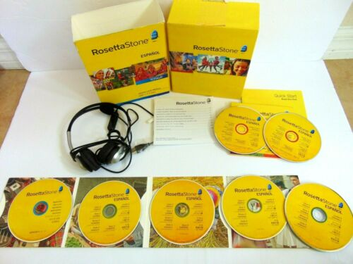 Rosetta Stone Spanish Espanol  Totale Level 1-5 Version 4 (2010) no code