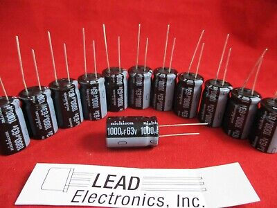 Qty 12 Nichicon 1000uf 63-volt Radial 105-deg Temp Uvz1j102mhd