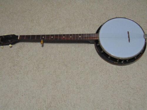 SILVERTONE 5 string banjo plectrum with case vintage antique RARE guitar w/case