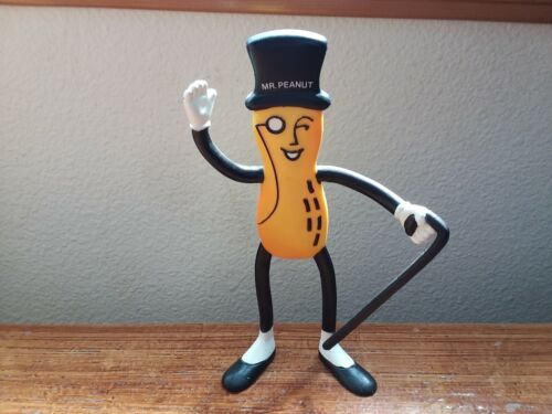 Mr Peanut Doll Planters Peanuts Rubber Bendable Figure