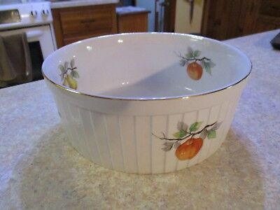 """Andrea By Sadek Ceramic Casserole Bowl Oven To Table #7531 Fruit 3"""" By 9"""" Round for sale  Ocala"""