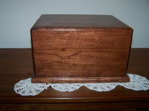 Cherry Wood Cremation Urn Adult Made USA