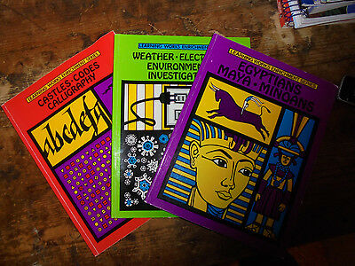 Learning Works Enrichment Series Set Of 3 Books Castles Egyptians Weather