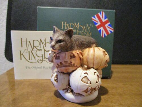 Harmony Kingdom Feline Fest Cat on Pumpkins Evt Pc UK Made Box Figurine RARE