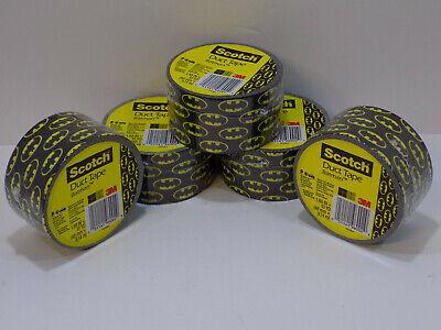 5 Brand New Sealed Rolls Scotch Brand Duct Tape Batman 1.88-inch By 10-yard