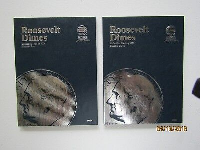 1965 - 2018 P&D CIRCULATED ROOSEVELT DIME SET IN NEW WHITMAN FOLDERS
