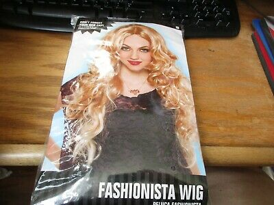 Fashionista Wig Long Blonde Curly Adult Cosplay Costume Halloween Theater NIP