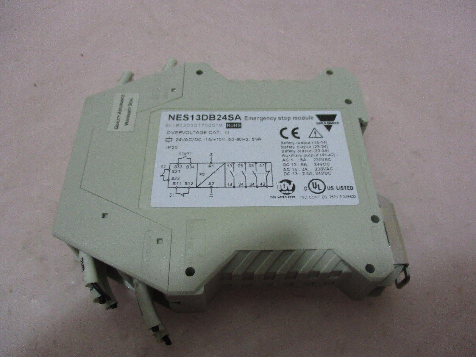 Carlo Gavazzi NES13DB24SA Emergency Stop Module, NES13D, 420659