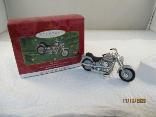 2000 Fat Boy Hallmark Ornament Harley Davidson Motorcycle Milestone