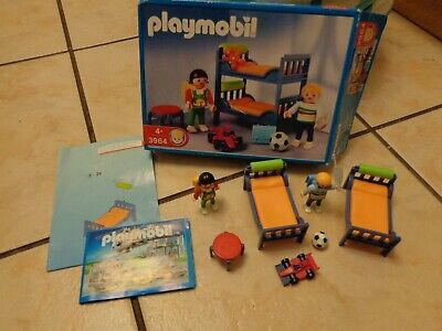 VERY RARE - PLAYMOBIL 3964 CHILDREN'S ROOM IN BOX (TEDDY MISSING!) AGE 4 YEARS+