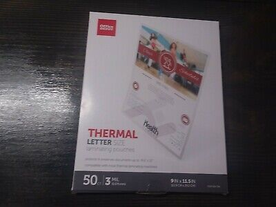 Thermal Letter Size Laminating Pouches Office Depot 535-704