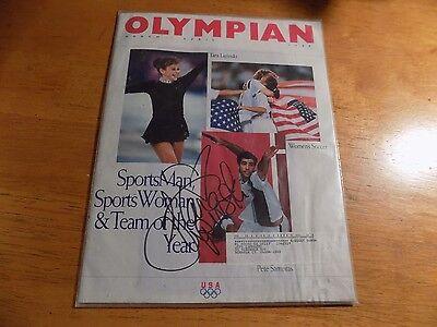 Tara Lipinski Signed Auto Olympian Magazine March  1998