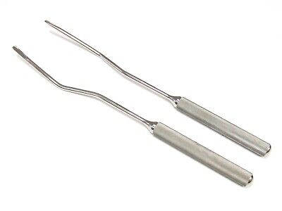 Equine Horse Dental Offset Elevator 2-pcs Set Stainless Steel 13 Long