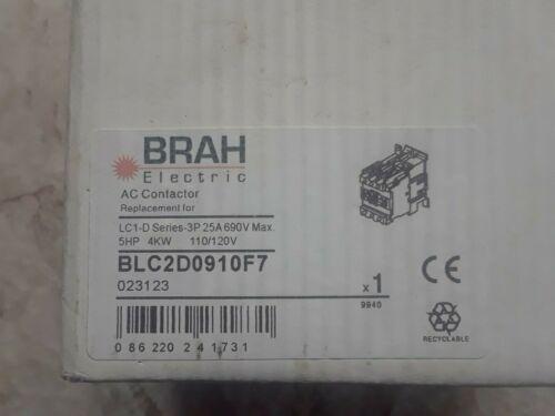 NEW BRAH ELECTRIC BLC2D0910F7 AC REVERSING CONTACTOR 120 V COIL