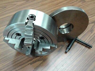 8 4-jaw Lathe Chuck W. Independent Jaws W. L0 Adapter Semi-finish0804f0-new