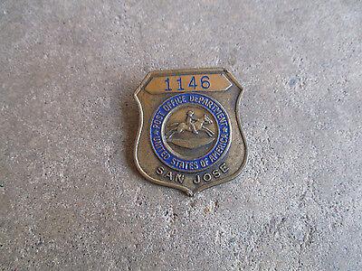 1950 Us Post Office Postal Dept San Jose California Employee Id Badge Pin