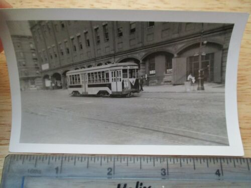 Orig 1941 TARS 3rd Av Railway Trolley 129 St & Amsterdam New York City NYC Photo