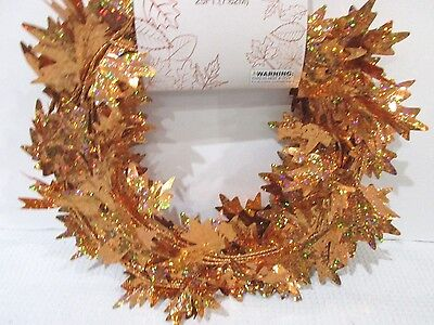 Fall Leaves Garland (Fall Thanksgiving Small Maple Foil Leaf Garland Orange Decoration Decor)