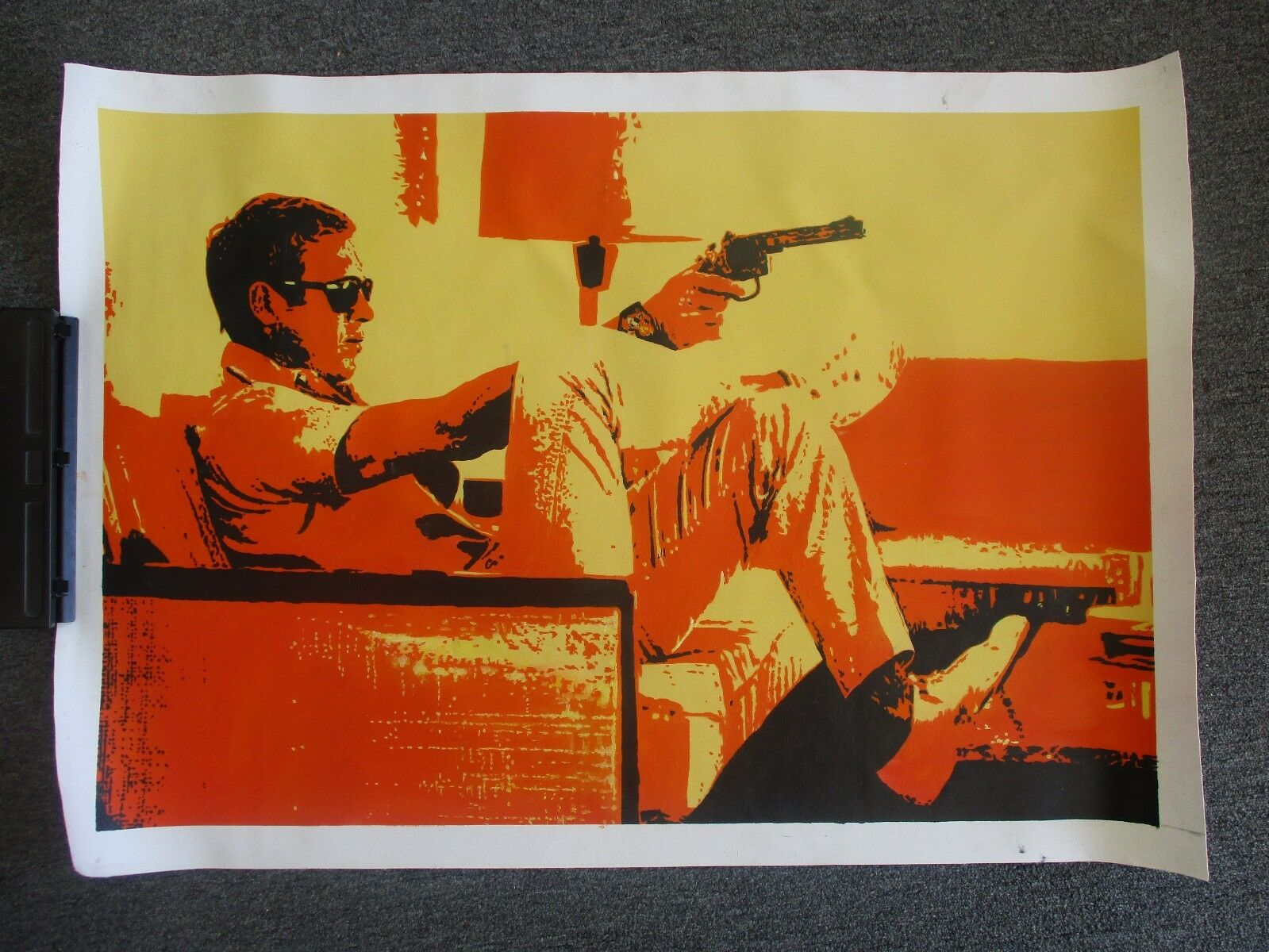 STEVE McQUEEN SILK SCREEN CANVAS WALL HANGING POSTER