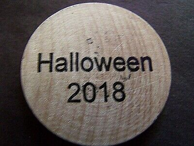 Parade Halloween New Orleans (Rare 2018 New Orleans Halloween Parade Wooden Nickel Doubloon)