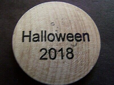 Rare 2018 New Orleans Halloween Parade Wooden Nickel Doubloon  - New Orleans Halloween