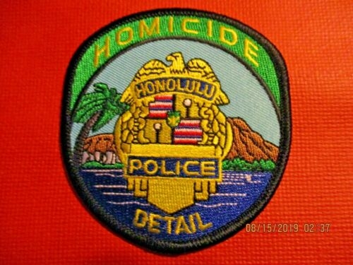 Collectible Hawaii Police Patch,Honolulu Homicide,New
