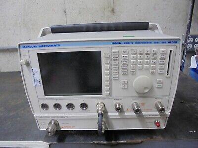 Marconiifr 6200b 6210 Rfmicrowave Test Set Reflection Analyzer Opt3