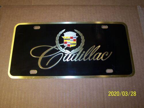 "Cadillac Emblem License Plate Brass 12"" x 6"""