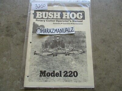 Bush Hog Model 220 Rotary Cutter Operators Manual