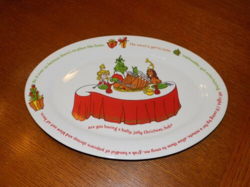 "Dr. Seuss How the Grinch Stole Christmas 14"" Platter 2000 Universal Studios"