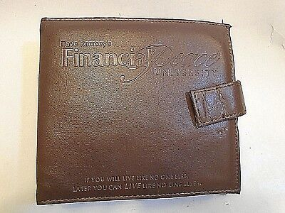 Dave Ramsey's Financial Peace University 16 CD digital audio Leather case