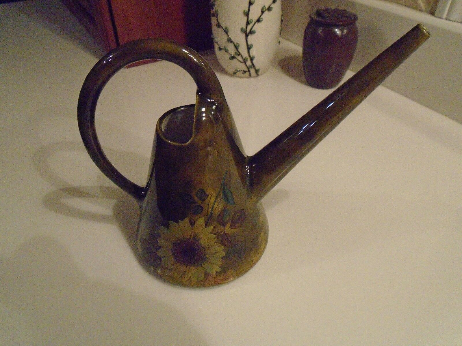Vintage Arnels Ceramic Water Pitcher Watering Can