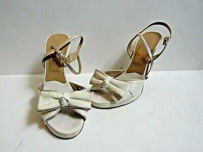 VALENTINO GARAVANI Leather Slingback Platform Sandals Size EU 37 US 7