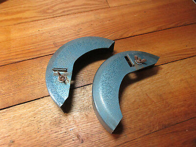 General Brand Bench Grinder Buffer Wheel Guards Vintage 1940s Made In Usa