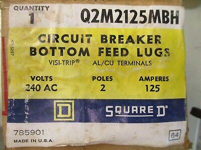 Square D Q2m2125mbh 125 Amp 2 Pole 240 Volt Circuit Breaker- New