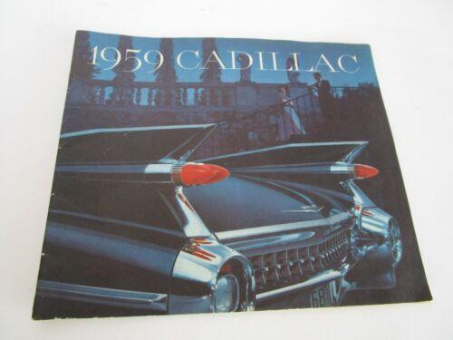Vintage Original 1959 Cadillac brochure Coupe De Ville 62 Fleetwood Eldorado Etc