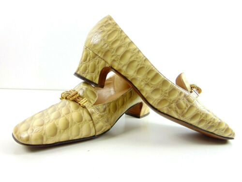 Vintage Spiegel Wide Heel Shoes Womens Size 7.5