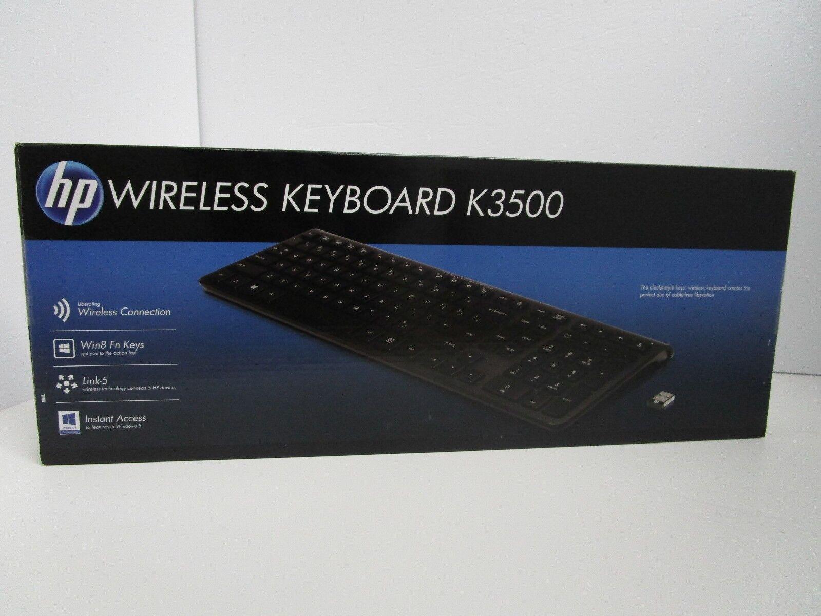 Hp - K3500 Wireless Keyboard - Black
