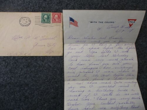 WWI Letter Sent by PVT Oscar Current to his Family in Queen City, Missouri #9