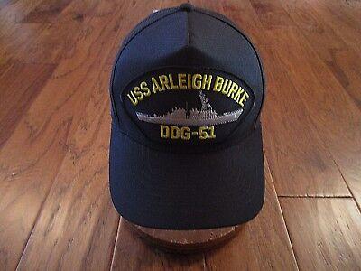 USS ARLEIGH BURKE DDG-51 NAVY SHIP HAT U.S MILITARY OFFICIAL BALL CAP U.S MADE