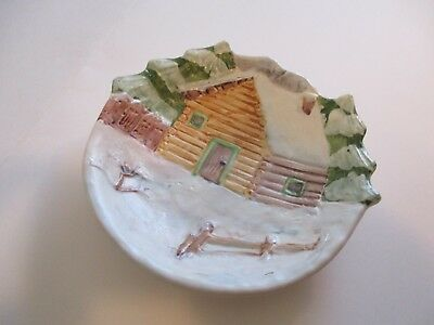 ITALIAN MADE IN ITALY PLATE WALL HANGING 6.5 x 6.5 INCHES COLLECTIBLE #9
