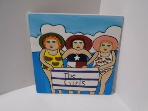 """Westland Giftware Funseekers """"The Girls"""" Trivet Item No. 6441 Janice Joplin 2003"""