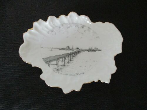 Circa 1910 Souvenir Porcelain Dish Ida Lewis Lighthouse New port Rhode Island #