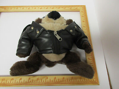 Warner Brothers, Taz In Leather Motorcycle Zippered & Snapped Jacket, Bandana