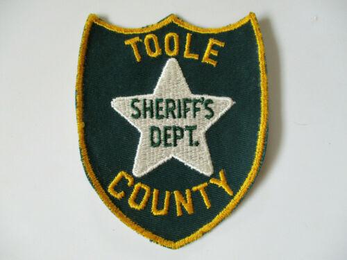 vintage 1970 era Toole County Sheriff Dept Montana Shelby Police Patch RARE