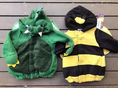 Kids Boy Girl baby Kids Children Warm Dinosaur Bumble bee Party Hoodie Costume